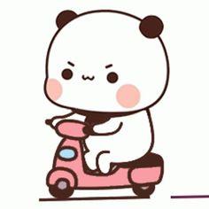 Cute Panda Cartoon, Cute Cartoon Characters, Cute Cartoon Pictures, Cute Love Cartoons, Chibi Cat, Cute Chibi, Phineas, Cute Bear Drawings, Cute Panda Wallpaper