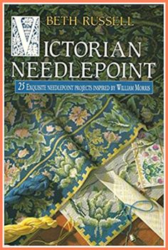 I love this collection of Victorian designs for needlepoint.  The colors used are amazing. #ad