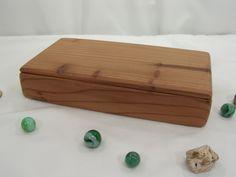 California Redwood Box, valet box, god box, 5th wedding anniversary gift, natural jewelry box, office desk organizer, watch box by earnestefforts on Etsy