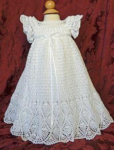 Bautizo blanco / bendición vestido con el Slip y el bonete - 3 a 6 meses - listo para nave - 13135-G