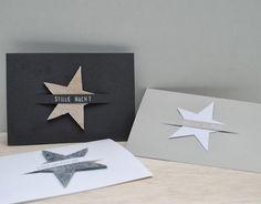Hand made Xmas cards Diy Christmas Cards, Xmas Cards, Diy Cards, Christmas Time, Christmas Crafts, Christmas Stars, Simple Christmas, Navidad Diy, Xmas Decorations