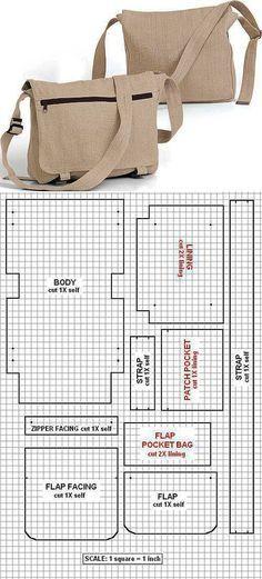 new ideas for diy bag pattern crafts Handbag Patterns, Bag Patterns To Sew, Sewing Patterns, Sewing Stitches, Patchwork Patterns, Sewing Hacks, Sewing Tutorials, Sewing Projects, Sewing Crafts