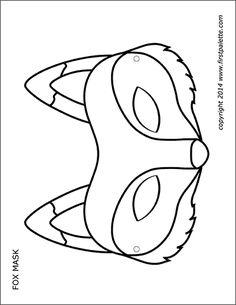 Pdf masque renard a colorier cosplay accessories masque renard masque animaux masque loup - Masque de renard a imprimer ...