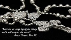 Pull Chain Rosary - Church Militant Combat Rosary: given to military during WWI Recommissioned by a Priest for Spiritual Combat. Rosary Church, Holy Rosary, Rosary Novena, Rosary Prayer, Fatima Prayer, Saying The Rosary, Our Father Prayer, Prayers To Mary, Prayers