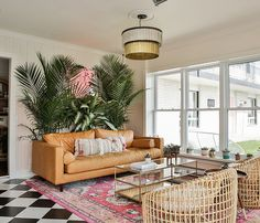 Inside the gorgeous June Motel, a boutique roadside inn in Prince Edward County Funky Wallpaper, Summer Vacation Spots, Hotel Branding, Prince Edward, Home Decor Trends, Leather Sofa, Brown Leather, Motel, A Boutique