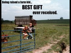 If someone would have told me this while growing up I would have laughed... now I'd do anything to be a little girl again and help my daddy farm.  Born and raised on the farm from both sides of the family, farm life will always and forever be in my blood.  It's funny how I'm just like my daddy when it comes to the country. :)