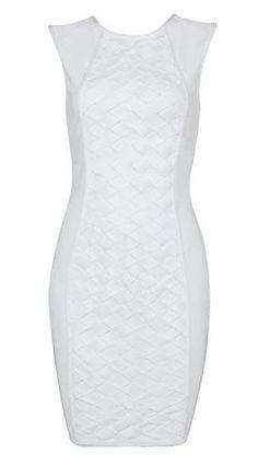 Kinsley White Bandage Dress