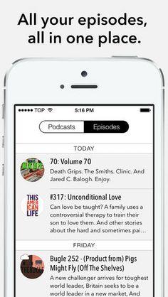 Castro: Beautifully designed podcast app.