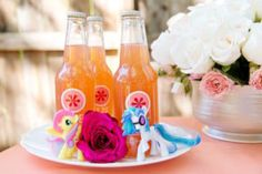 Beverages from a Glam Floral My Little Pony Birthday Party on Kara's Party Ideas | KarasPartyIdeas.com (27)