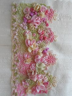 Excellent Quality Ribbon Embroidery Handiwork