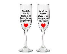 Wine Glasses with sayings bride and groom by PersonalizingMoments