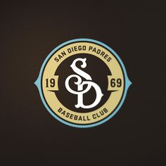 A case study reimagine the San Diego Padres primary monogram and color palette to fuse the past and present in progressive harmony. Vintage Monogram, Monogram Logo, Badge Design, Logo Design, Graphic Design, Graphic Tee Style, Retro Logos, Vintage Logos, Soccer Logo