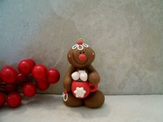 Gingerbread Man and Hot Chocolate  - Christmas Ornament