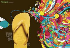Havaianas Print Advertisement by BBDO Print Advertising, Print Ads, Typography Ads, Good Advertisements, Ad Of The World, Case Histories, Best Ads, Copywriter, Ad Art
