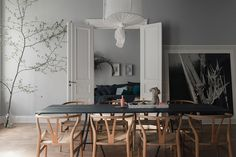 A beautiful Swedish home with pastel ceilings