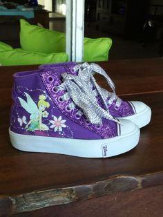 b45c506fff3 Disney Fairies TINK Toddler Purple Baby Girls High Top Tennis Shoes Size 8  1 2  fashion  clothing  shoes  accessories  babytoddlerclothing  babyshoes   ad ...