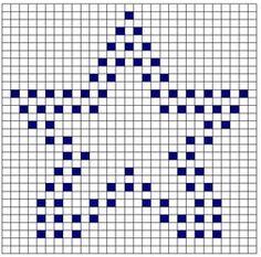 Ravelry: Star Bobble Chart pattern by Kari Philpott Bobble Stitch Crochet Blanket, C2c Crochet, Crochet Blocks, Crochet Cross, Crochet Blanket Patterns, Filet Crochet, Baby Blanket Crochet, Crochet Stitches, Cross Stitch Patterns