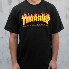 94098bec350 Thrasher Magazine Shop - Thrasher Magazine Flame Logo T-Shirt