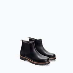 ZARA - KIDS - LEATHER ANKLE BOOT WITH ELASTIC DETAIL. Just got on the mail & we Love them!!!!