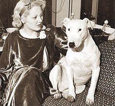 Actress Thelma Todd and Jiggs, aka White King, 1935