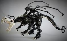 Lego Model : By the dragon's bones this one's a terror Lego Dino, Lego Robot, Lego Ninjago, Lego Bionicle, Lego Mecha, Lego Design, Dragon Bones, Lego Dragon, Amazing Lego Creations