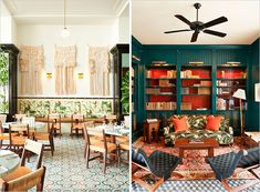 both of these rooms could be straight out of a wes anderson flick - American Trade Hotel in Panama | Rue