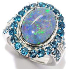 NYC II® 14 x 10mm Oval Opal Triplet, London Blue Topaz