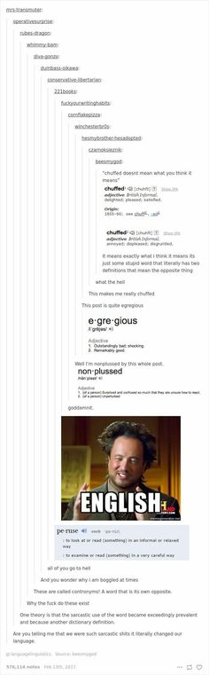 The English language.