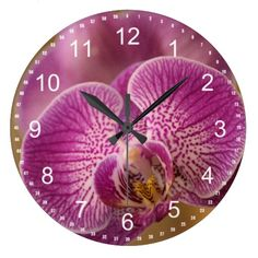 Pink Orchid Flower clock
