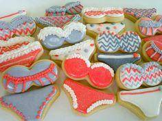 Bra and Panties Mini Sugar Cookies  2 Dozen by acookiejar on Etsy, $27.95