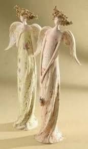 Garden Statues - - This is a Pastel Garden Angel Figurine made of Resin/Stone Mix . Its dimensions are x x We are proud to offer this as part of our extensive Angel Blossoms Collection of unique religious and inspirational themed Pottery Sculpture, Sculpture Clay, Clay Angel, Pottery Angels, Mistletoe And Wine, Handmade Angels, Ceramic Angels, I Believe In Angels, Garden Angels