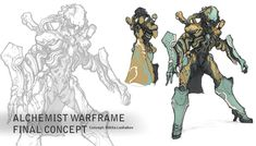 Game Character Design, Character Concept, Character Art, Concept Art, Warframe Art, Sci Fi Weapons, Video Game Characters, Alchemist, Game Art