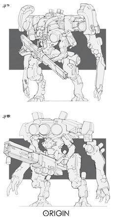 ArtStation - Line work_Mech02, Ray Jin