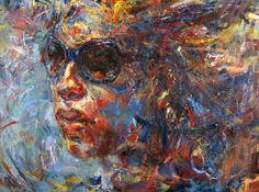 2015 | City Dweller by Judy Volkmann #figurative #expressionist #art #portrait #woman #city #contemporaryart #painting #artforsale #judyvolkmann Oil Paintings, Figurative, Contemporary Art, Woman, Portrait, City, Men Portrait, Cities, Oil On Canvas