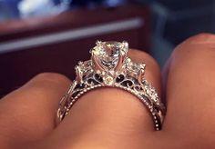 Bestow Me Rose Gold Crown Ring zircon ring crown ring princess
