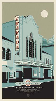 Granada Cinema, London: Illustration - Deadface   Portfolio website of graphic designer Ant Baena