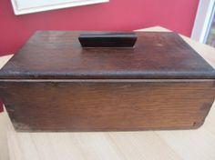Vintage wooden Box by OldEnglishMilly on Etsy, £20.00