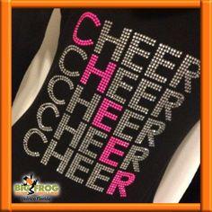 Cheer shirt design. Spangle custom designs available at #BigFrog of #Valrico. #Bling #Rhinestone #Spangle #Custom #Apparel  email us at DesignersValrico@BigFrog.com