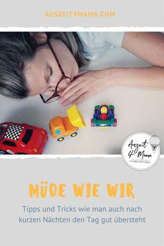 Schlafmangel ist der tägliche Begleiter einer Kleinkindmama. Hilfreiche Tipps, wie man die Tage auch nach kurzen Nächten gut übersteht. Mama Blogs, Mama Hacks, Flyer, Working Moms, Pregnancy, Sleep Deprivation, Parental Leave, Mom And Dad, Helpful Tips