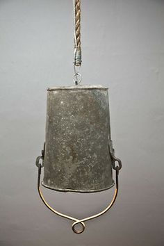 Rough South Home Repurposed Lighting Repurposed Items, Upcycled Crafts, Diy And Crafts, Repurposed Furniture, Reuse Recycle, Recycling, Bucket Light, Galvanized Buckets, Hand Painted Furniture