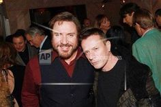 Larry Mullen Jr and Simon Le Bon - After Party for the Premiere of 'Duran Duran: Unstaged' - MoMA- NYC - November 4, 2013 (photo by Patrick McMullan)  #u2NewsActualite #u2NewsActualitePinterest #bono #LarryMullenJr #U2 #music #rock   http://u2yness.tumblr.com/