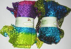 200g/2 huge skeins Ribbon Yarn Delta Ribbon multi by JuliaLCraft, $15.00