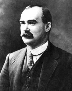 James Connolly was the leader of the Irish Citizen Army.  When the Rising failed in Ireland in 1916 and the Irish soldiers surrendered James Connolly was executed by firing squad