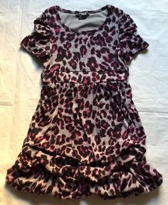 Sequin Hearts Girls Animal Print Party Dress size 7 7f4db8d54
