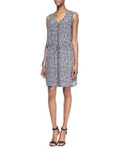$278 nwt EILEEN FISHER sz M ROADSTER silk crepe de chine zip dress romper #EileenFisher #ShirtDress
