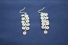 Handmade nickel silver earrings-Greek motif