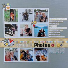 #papercraft #scrapbook #layout  Favorite Photos 2013 by Jennifer L at @Studio_Calico
