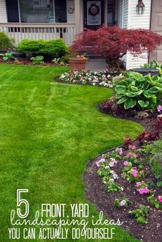Increase your curb appeal with these landscaping DIY projects! These 5 front yard landscaping ideas are perfect for beginners and can be done in a weekend. tipsaholic.com #yard #curbappeal #DIY #landscapingdiy