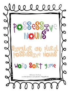 This game can be used at a center, to reteach, or to reinforce the concept of possessive nouns. Follow the directions on the teacher page fo...