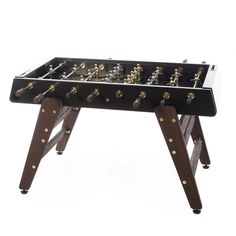 The RS Barcelona Foosball Table is everything you love about the classic table with a hint of sophistication. Order this wood & gold Foosball Table today! Barcelona, Outdoor Foosball Table, Table Football, Meme Design, Metal Workshop, Baby Foot, Aluminum Table, Gold Wood, Table Games